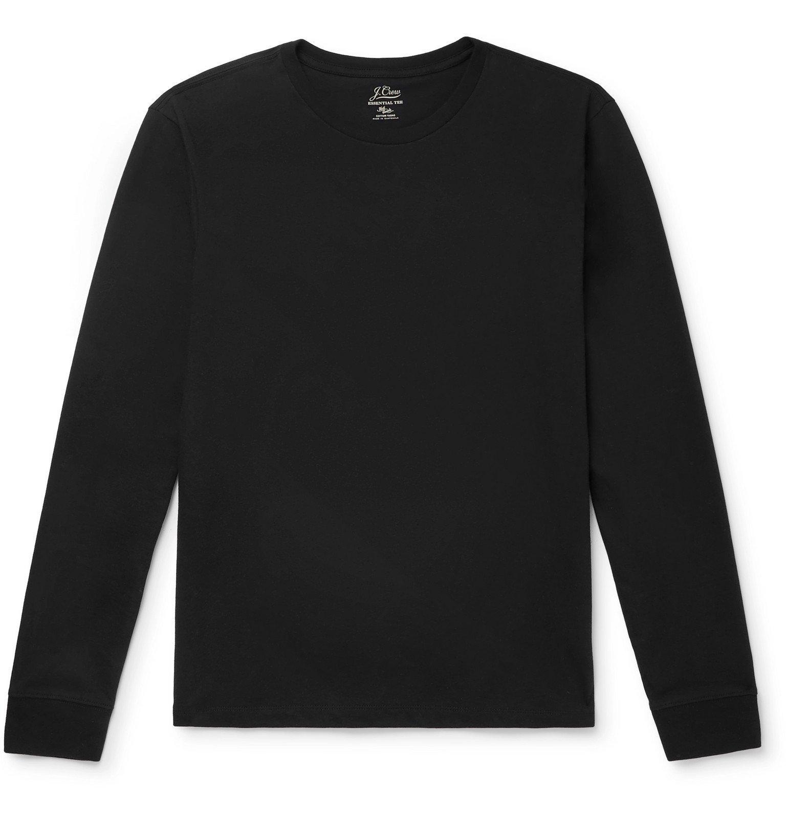 Photo: J.Crew - Cotton-Jersey T-Shirt - Black
