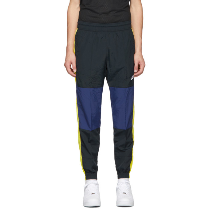 Photo: Nike Black and Yellow Re-Issue Woven Track Pants