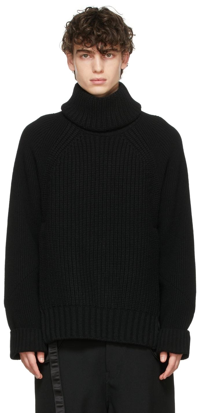 Photo: Sacai Black Wool Detachable Turtleneck Sweater