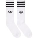 adidas Originals Three-Pack White Solid Crew Socks