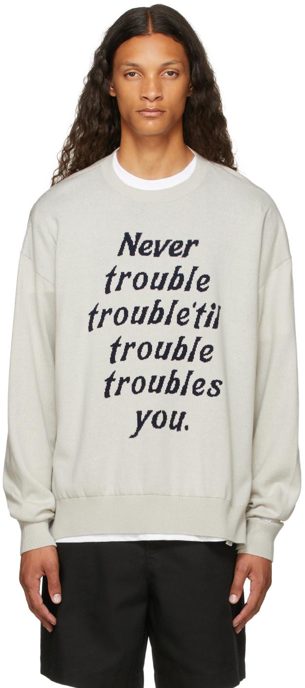 Photo: Saintwoods Grey 'Trouble' Sweater