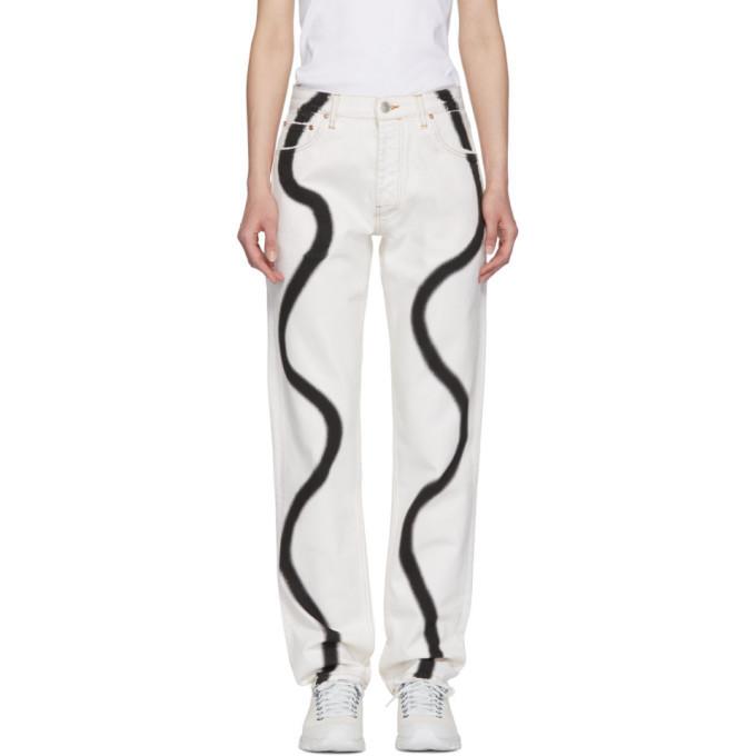 Martine Rose White Straight Leg Jeans