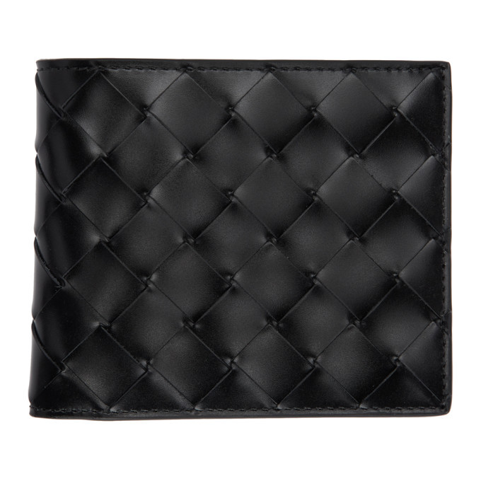 Photo: Bottega Veneta Black Intrecciato Spazzolato Bifold Wallet
