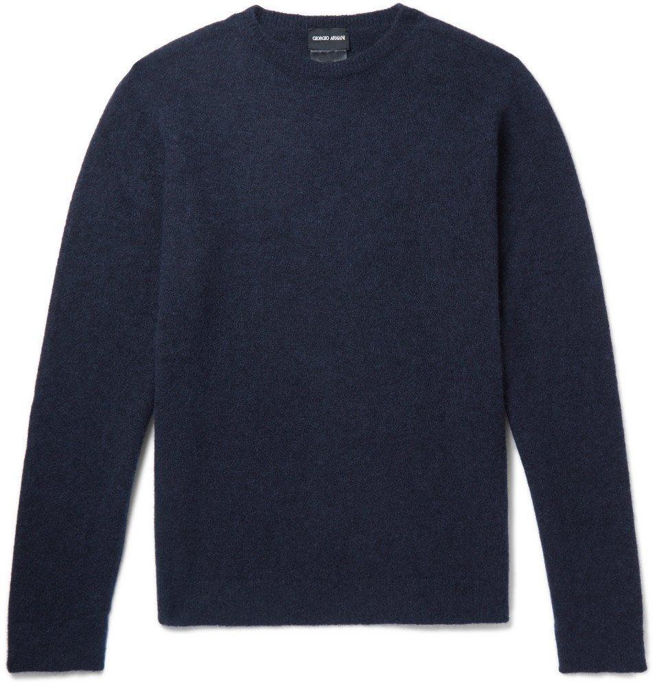 Giorgio Armani - Cashmere-Blend Sweater - Men - Blue