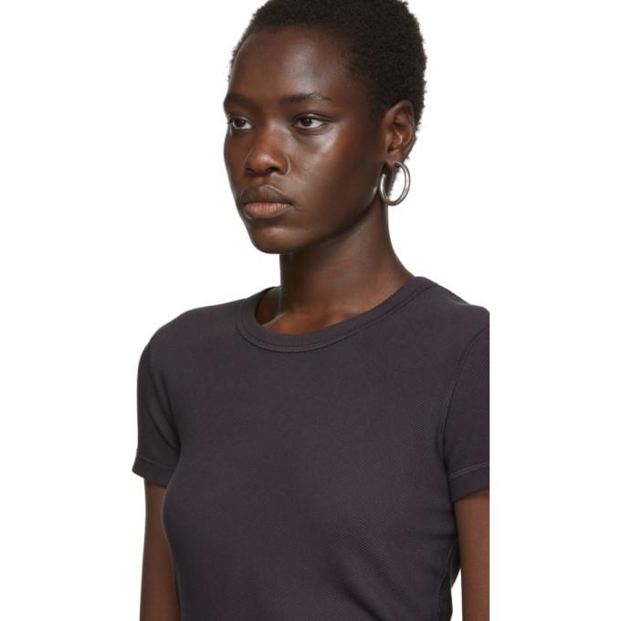 alexanderwang.t Purple Rib Bias Shrunkens T-Shirt