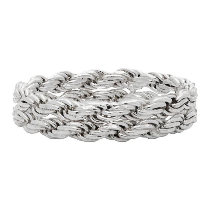 Photo: WWW.WILLSHOTT Silver Double Rope Ring