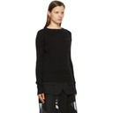 Sacai Black Knit Suiting Pullover Sweater