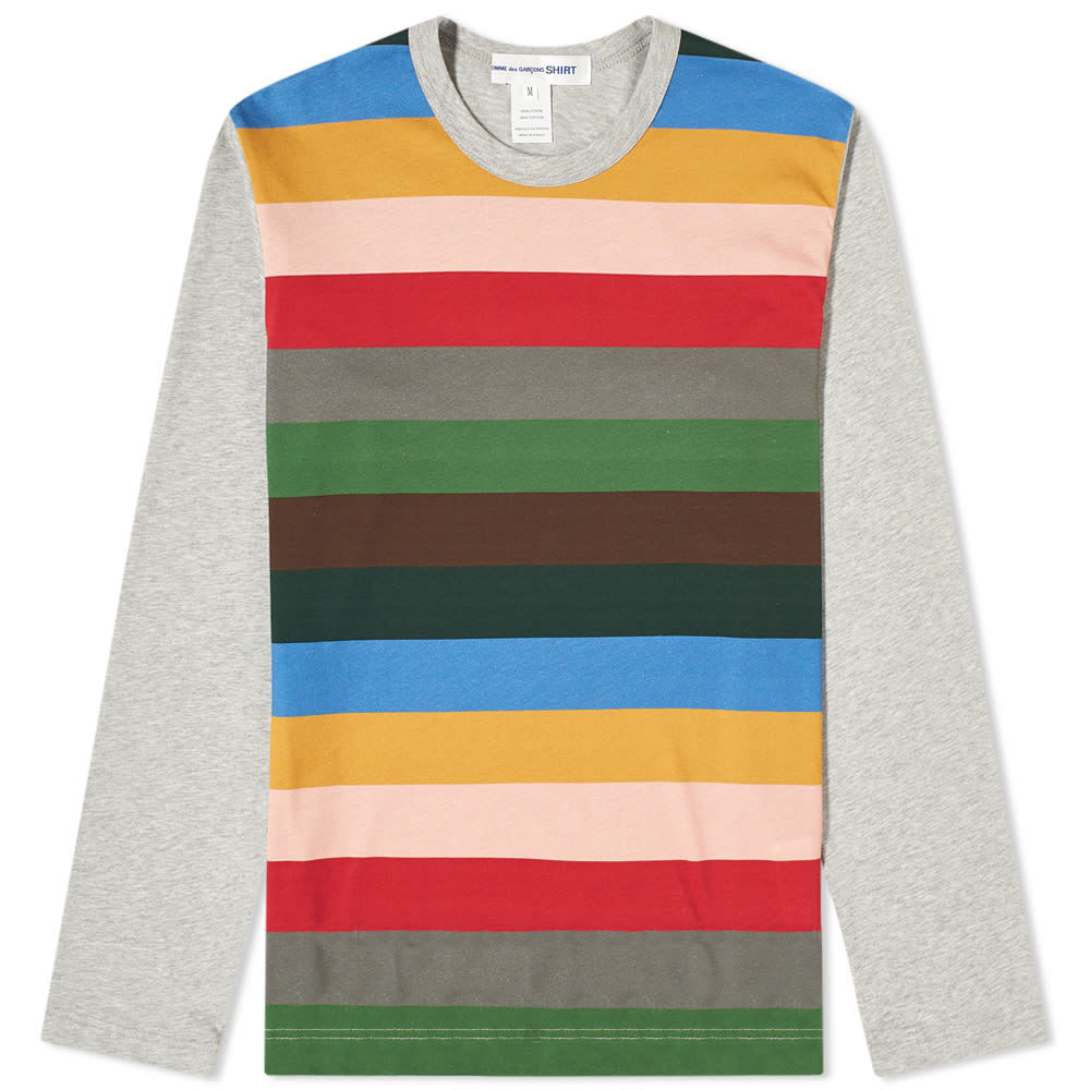 Photo: Comme des Garcons SHIRT Long Sleeve Block Stripe Tee