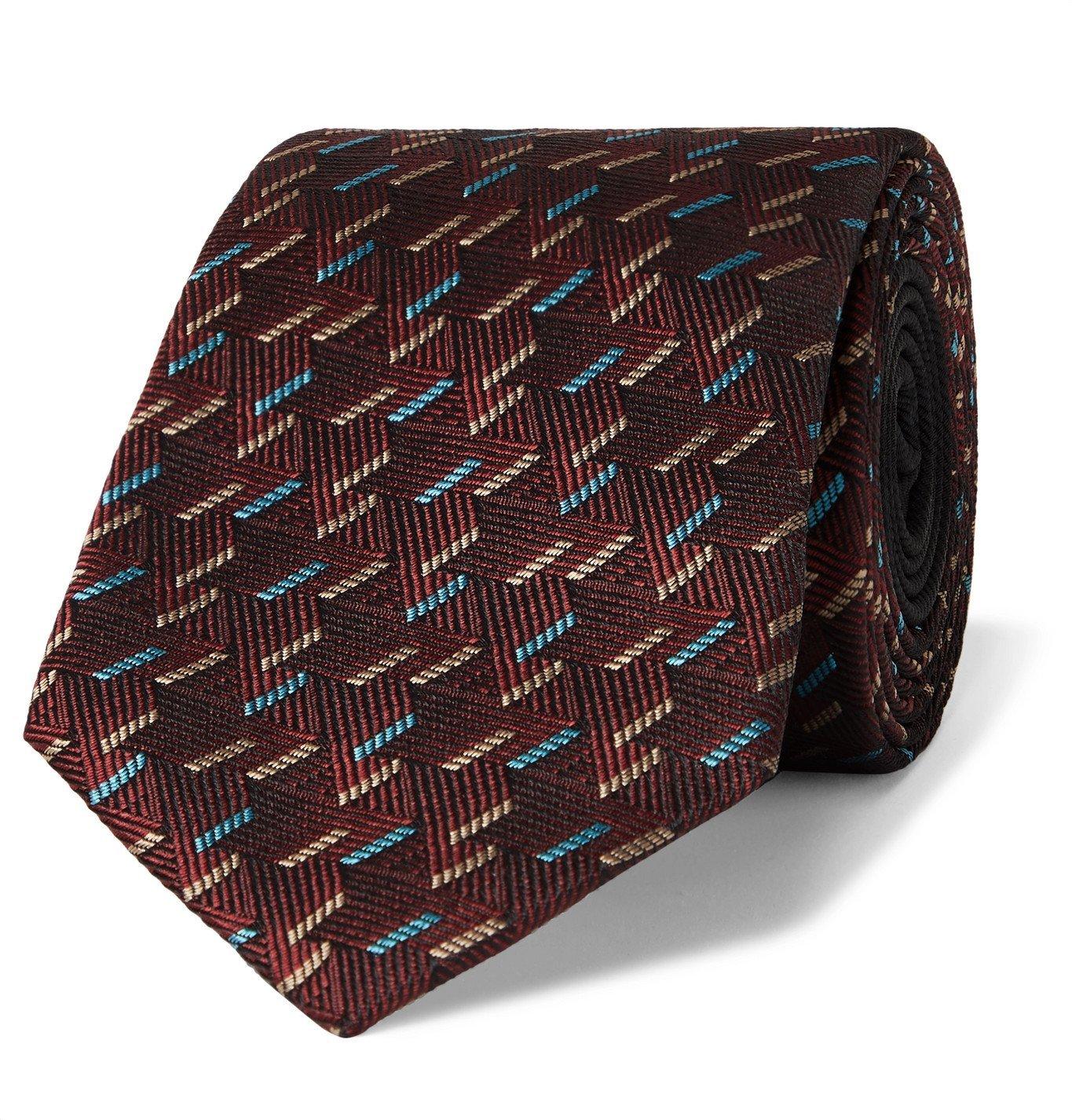 Photo: Missoni - 7cm Silk-Jacquard Tie - Burgundy