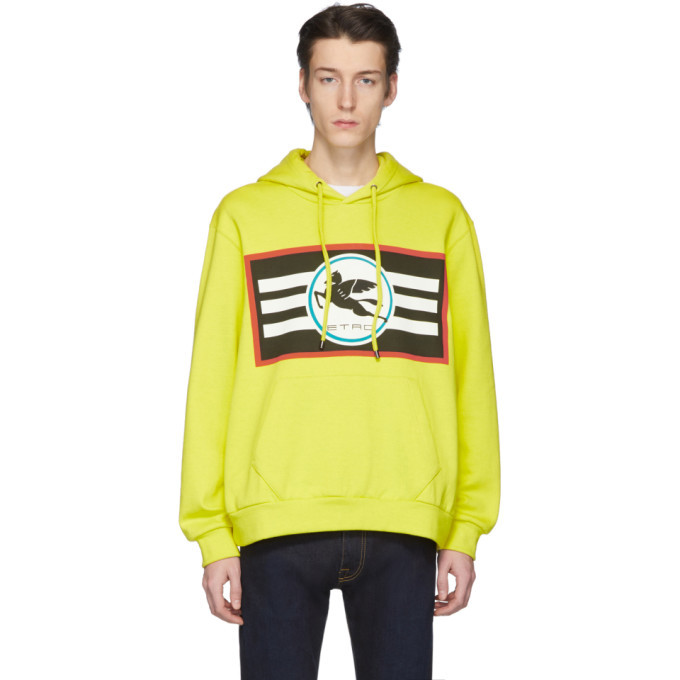 Photo: Etro Yellow Pegaso Hoodie