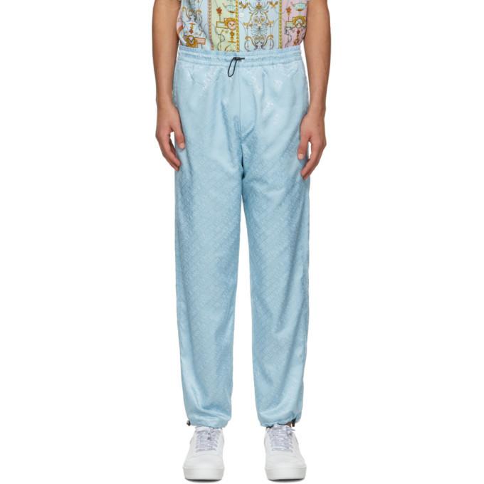 Photo: Versace Jeans Couture Blue Jacquard Logo Lounge Pants