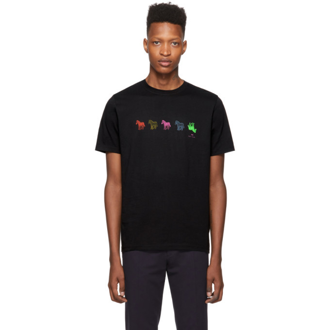 Photo: PS by Paul Smith Black Zebra Repeat T-Shirt