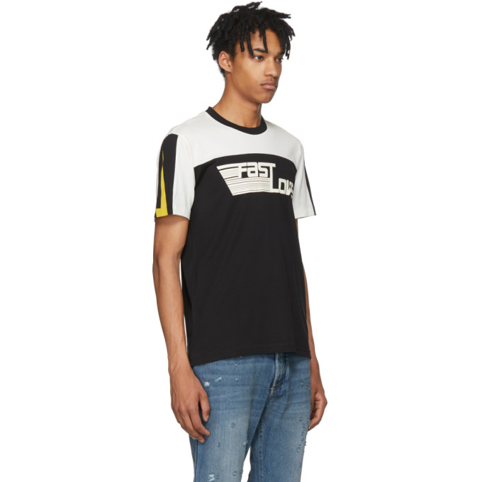 Black & White 'Fast Love' Jersey T-Shirt Fashionable Sale Online Purchase Cheap Price Brand New Unisex Cheap Online Amazon For Sale WHL8YH
