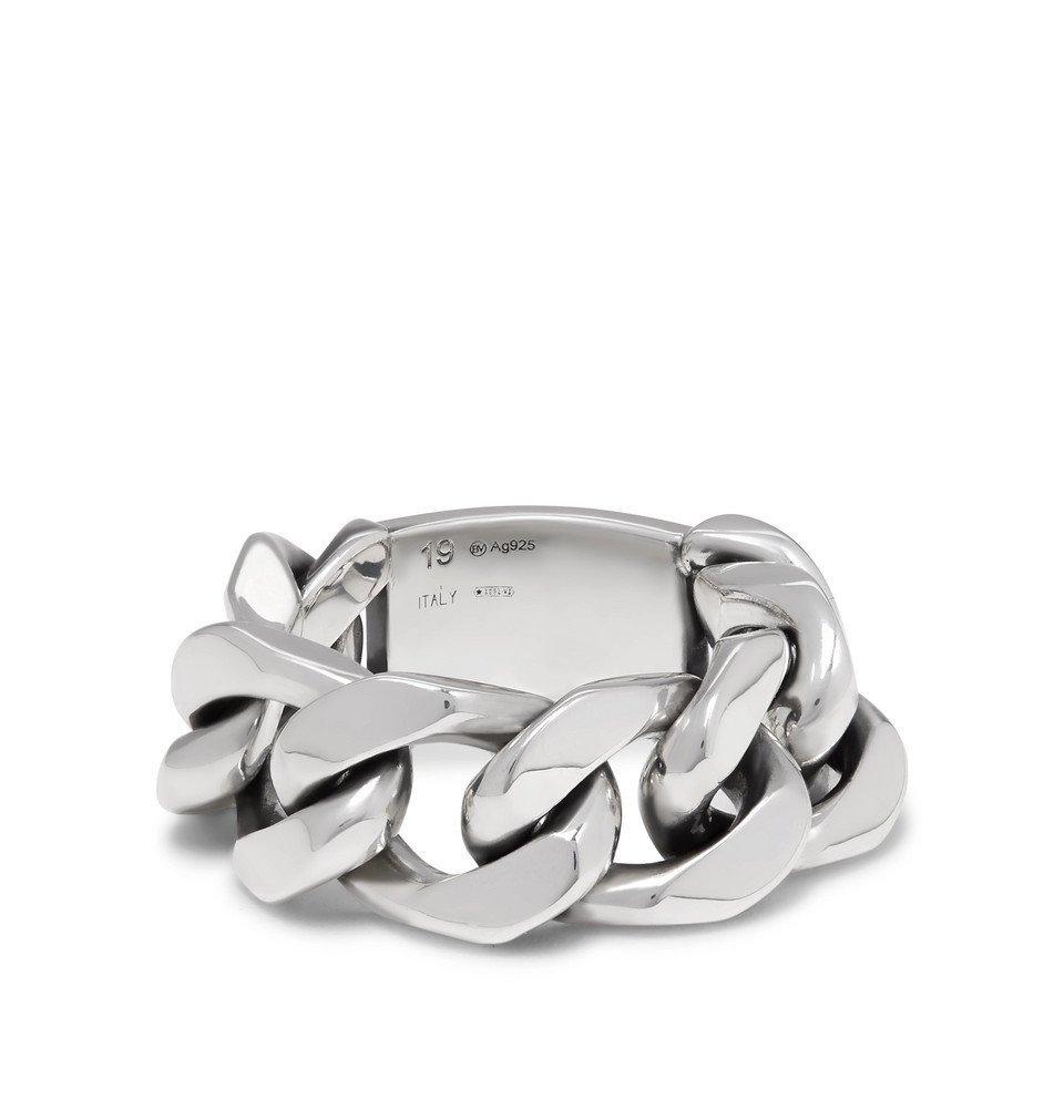 Bottega Veneta - Sterling Silver Chain Ring - Silver