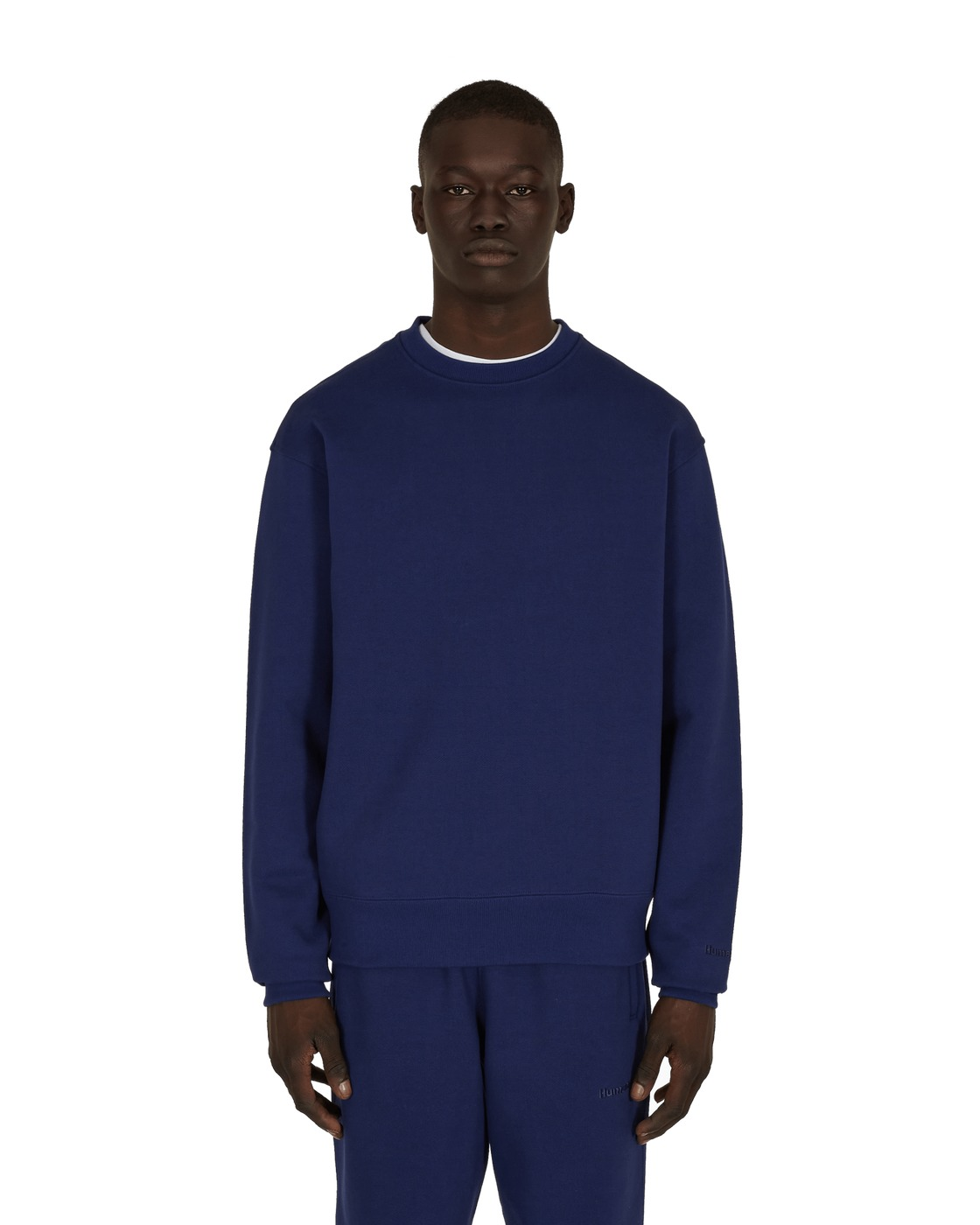 Photo: Adidas Originals Pharrell Williams Basics Crewneck Sweatshirt Night Sky