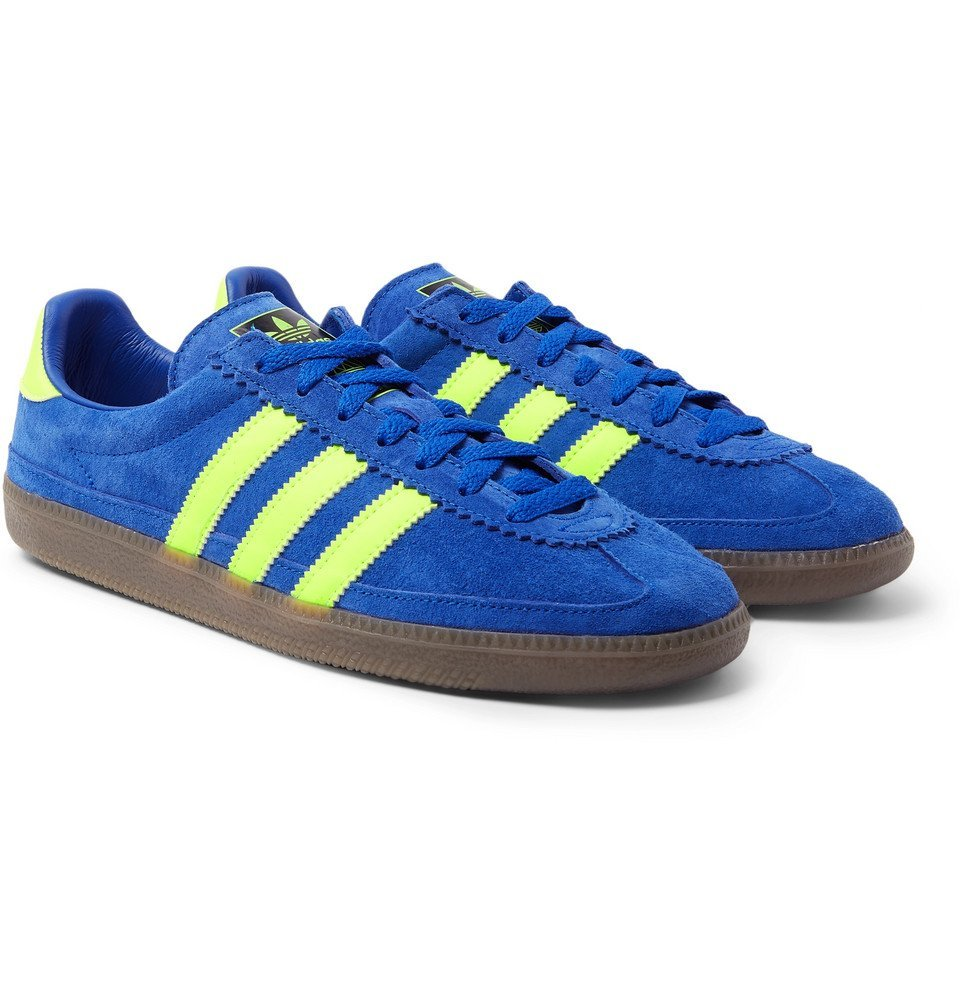 Photo: adidas Consortium - SPEZIAL Whalley Leather-Trimmed Suede Sneakers - Cobalt blue