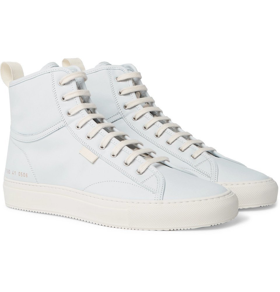 292630ef16c Photo  Common Projects - Tournament Nubuck High-Top Sneakers - Men - Light  blue