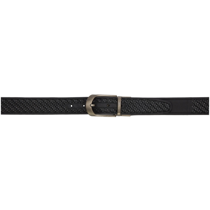 Photo: Ermenegildo Zegna Reversible Black Braided H35 Belt