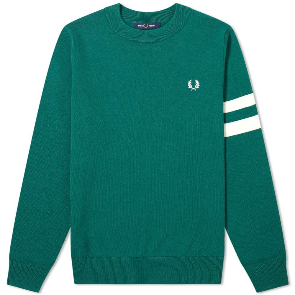 Photo: Fred Perry Authentic Engineered Stripe Crew Knit
