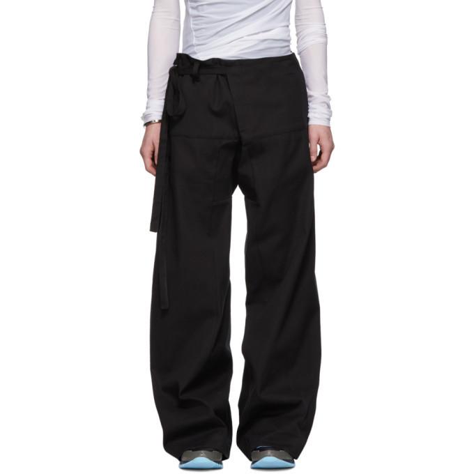 Acne Studios Black Wide-Legged Trousers