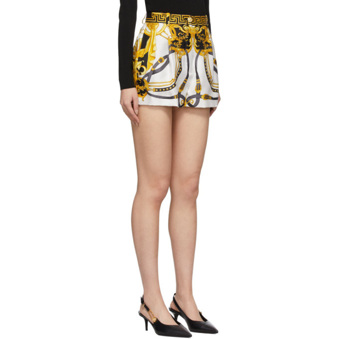 Versace Multicolor Silk Barocco Rodeo Shorts