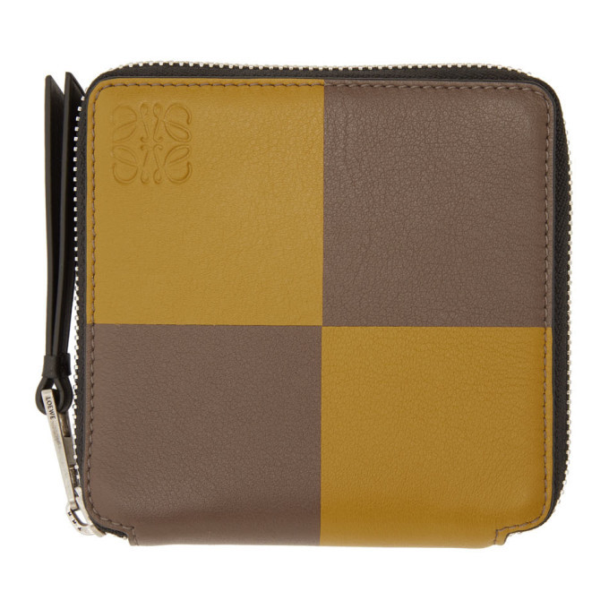 Photo: Loewe Yellow and Taupe Square Zip Wallet