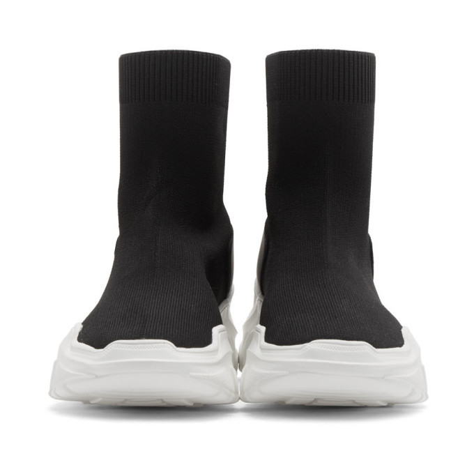 Versace Jeans Couture Black Chunky Sock Sneakers