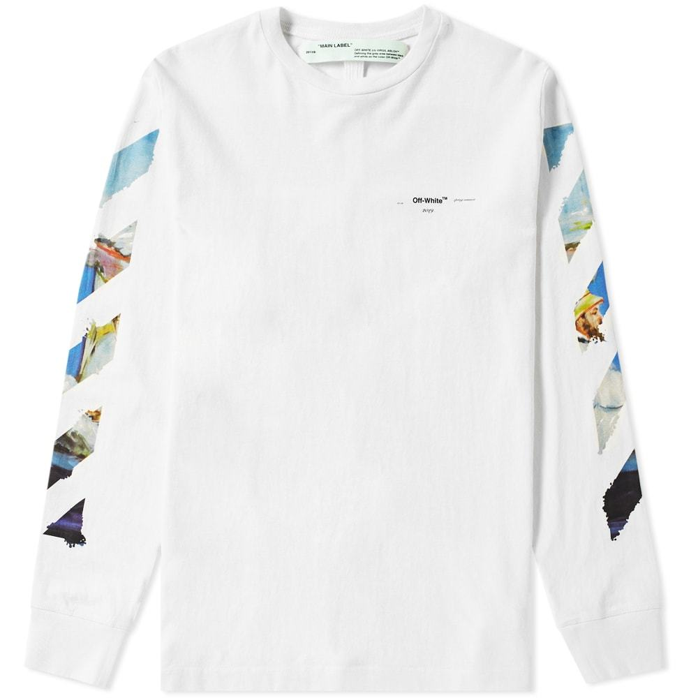 Photo: Off-White Long Sleeve Colour Painting Diagonals Tee