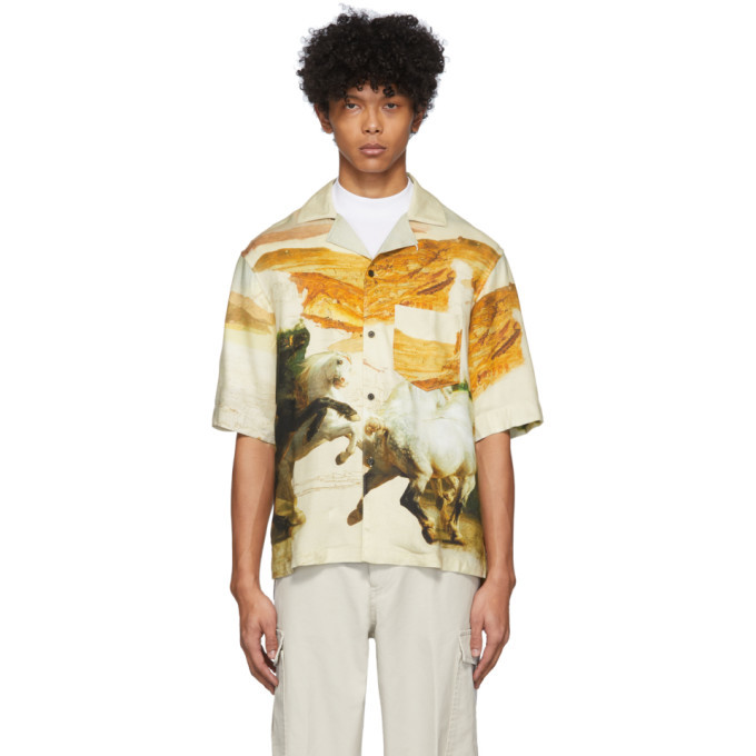 Photo: Acne Studios Off-White Simon Short Sleeve Shirt