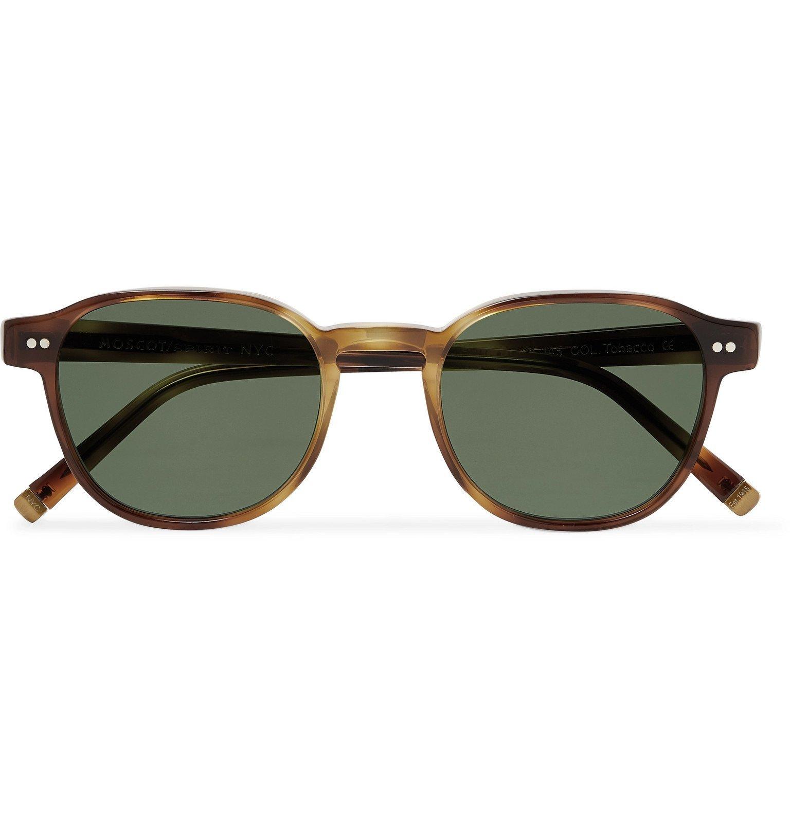 Photo: Moscot - Arthur Round-Frame Acetate Sunglasses - Brown