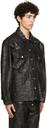 Martine Rose Black Croc Oversized Jacket