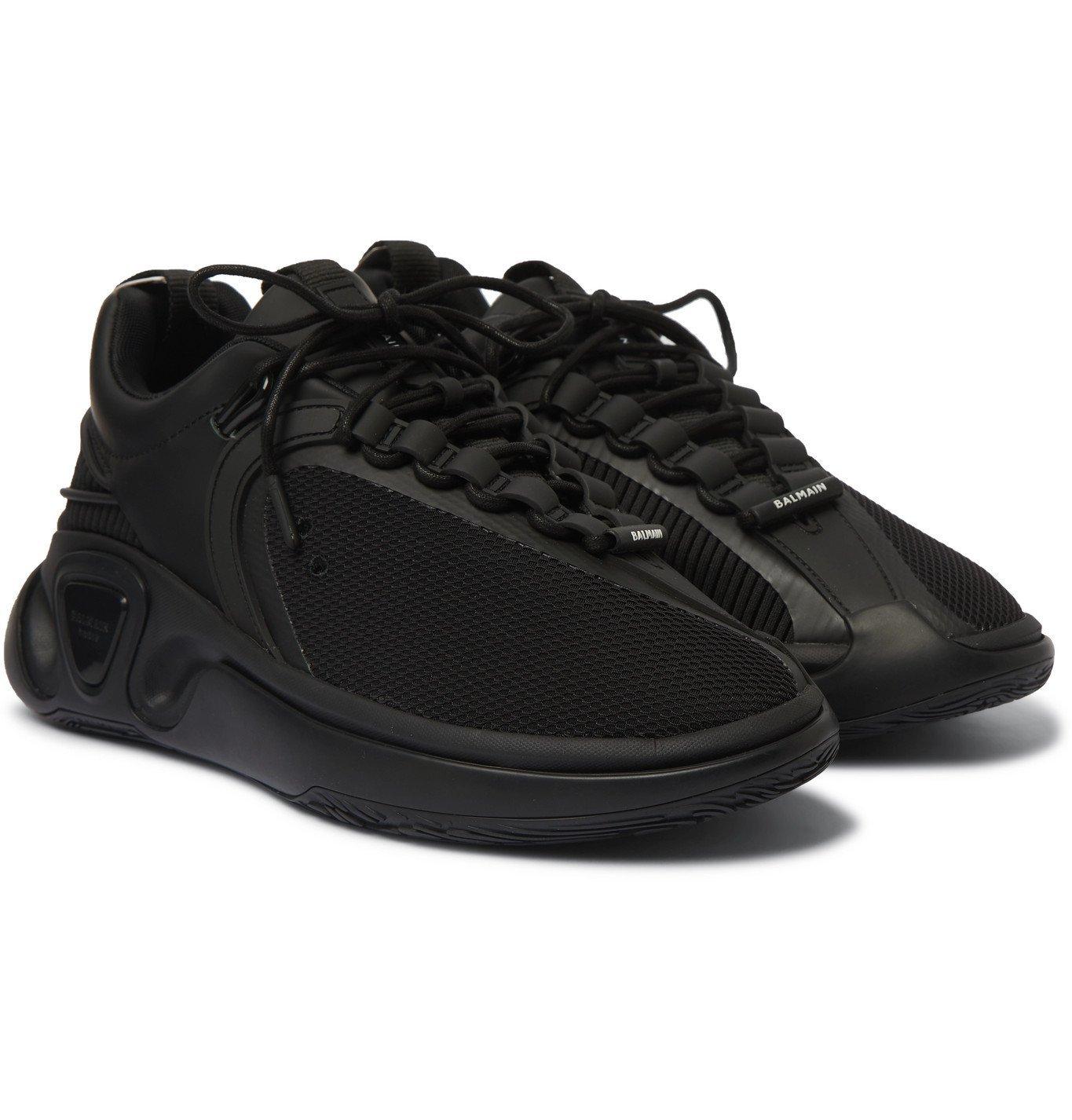 Photo: Balmain - B-Runner Nylon and Mesh Sneakers - Black