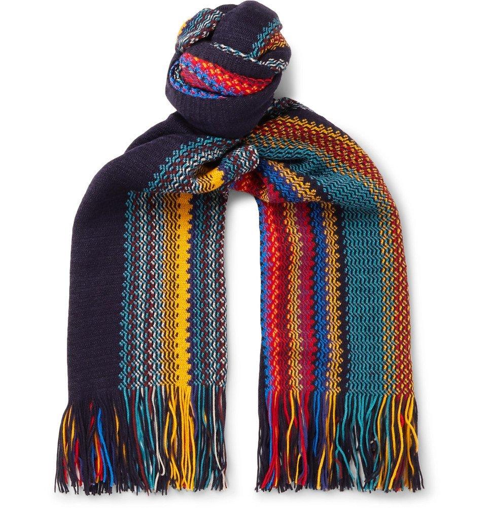 Photo: Missoni - Fringed Striped Wool-Blend Scarf - Multi