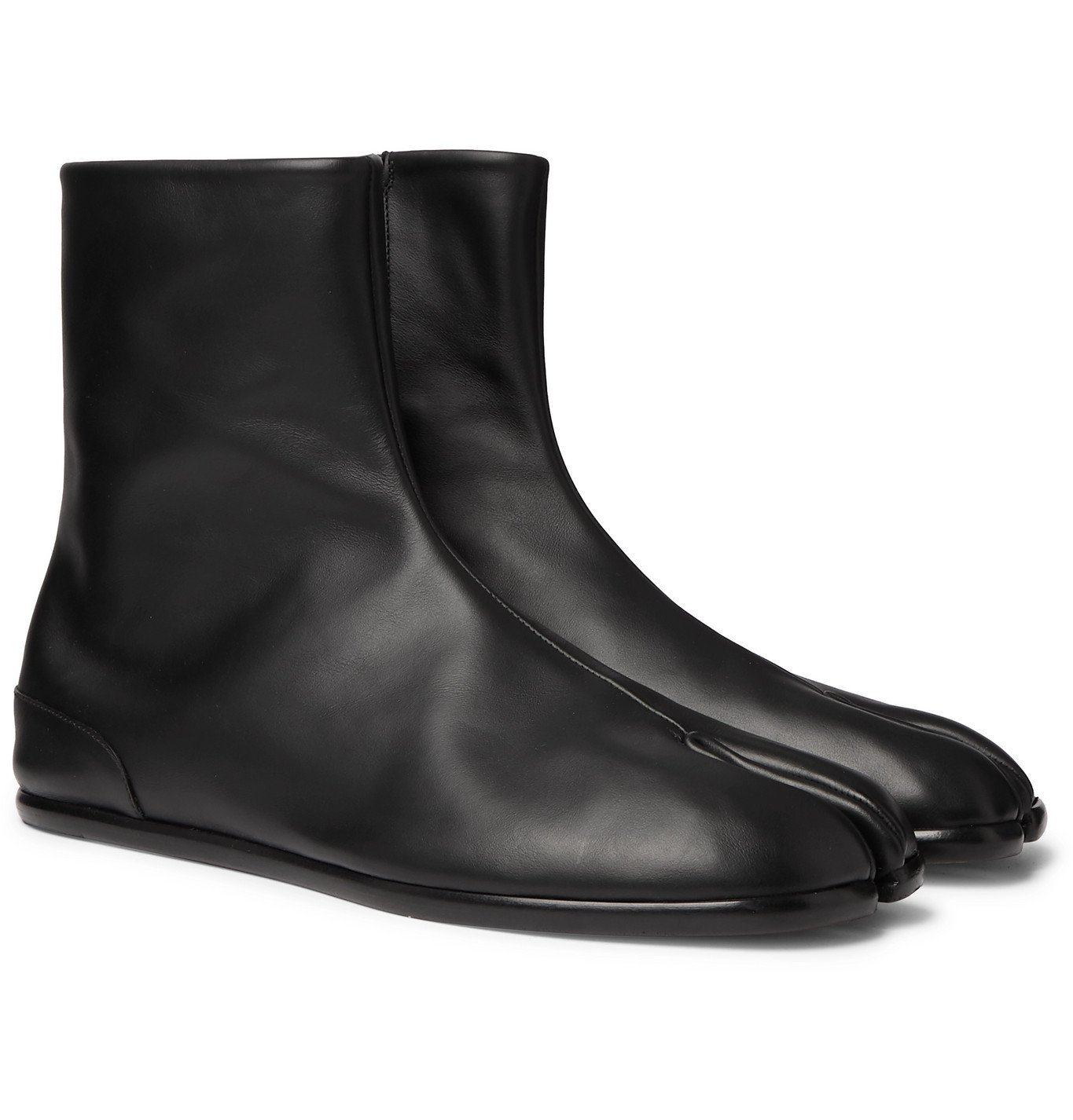 Photo: Maison Margiela - Tabi Split-Toe Leather Boots - Black