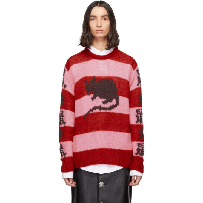 Photo: Marc Jacobs Pink and Red Stray Rats Edition Mohair Sweater