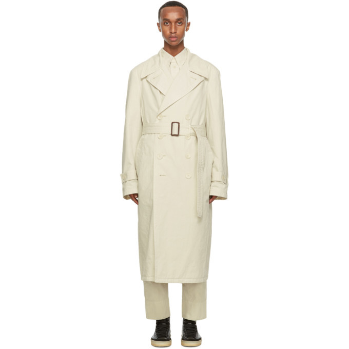 Photo: Lemaire Beige Garment-Dyed Trench Coat