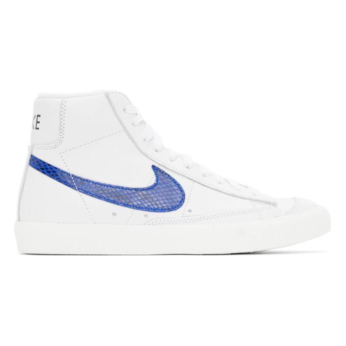Photo: Nike White Snake Blazer Mid 77 Vintage Sneakers