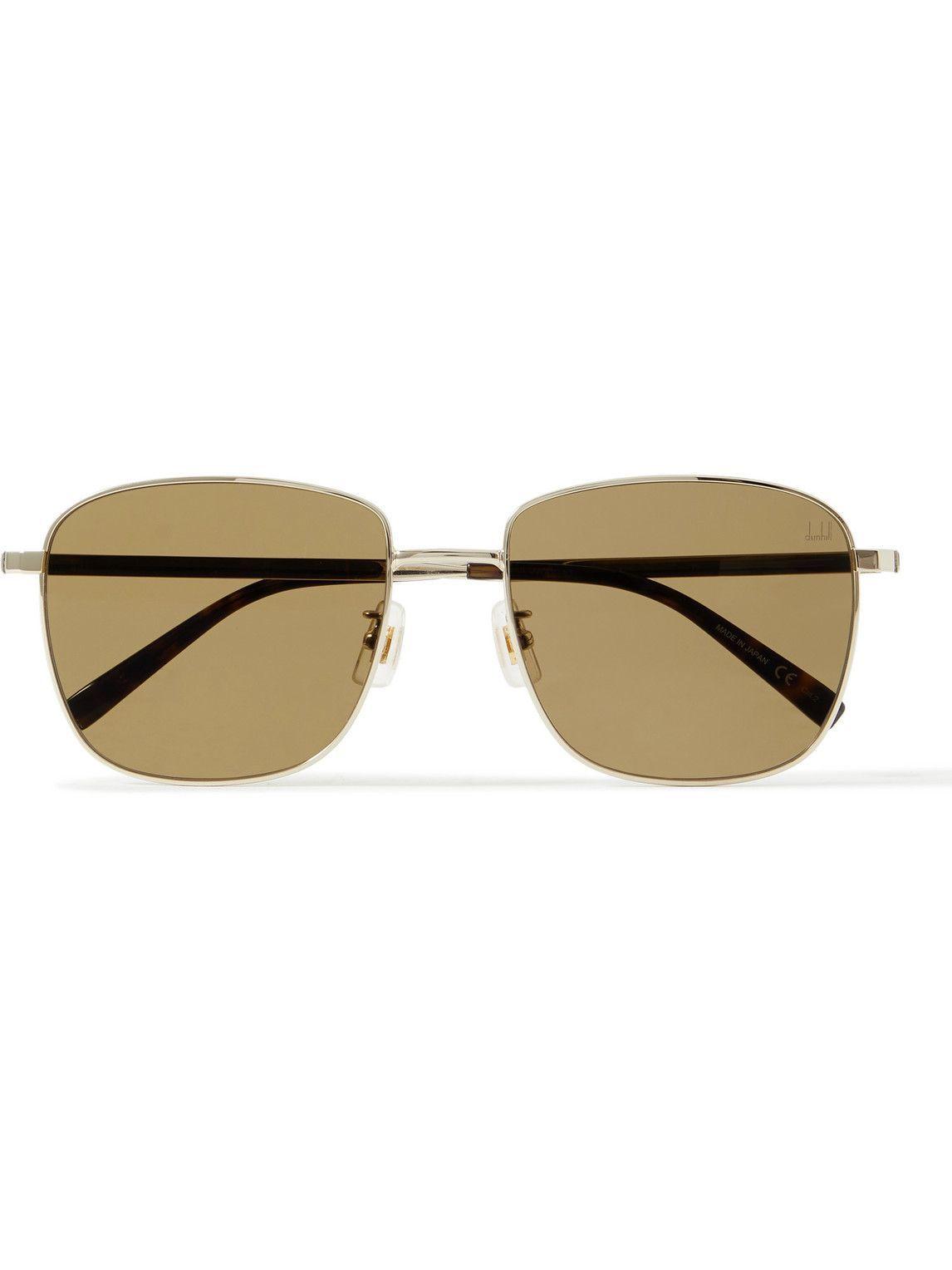 Photo: Dunhill - Square-Frame Gold-Tone Sunglasses