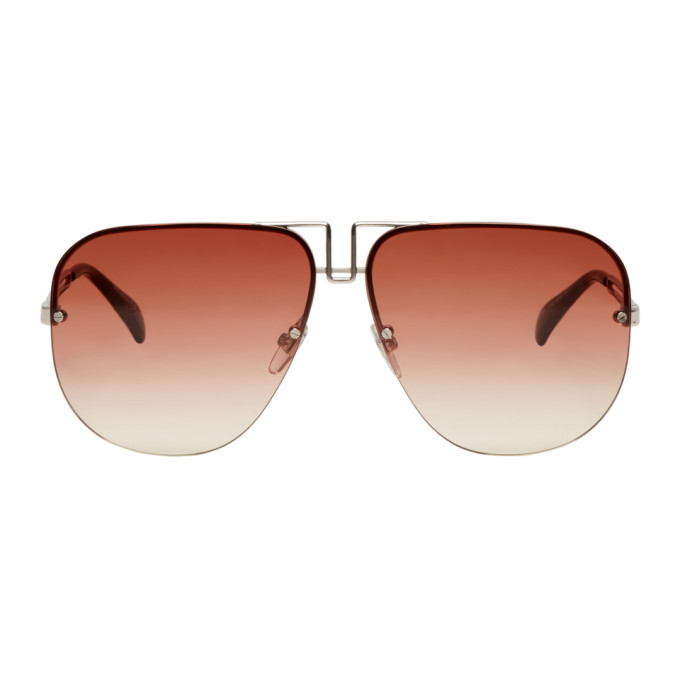 Photo: Givenchy Silver and Brown GV7126/S Sunglasses