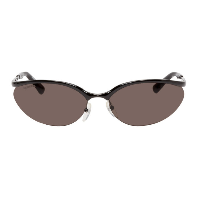 Photo: Balenciaga Black Fire Rectangular Sunglasses