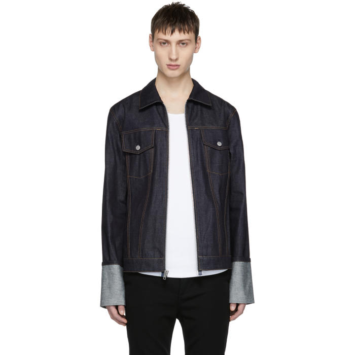Photo: Helmut Lang Indigo Re-Edition Zip Denim Jacket