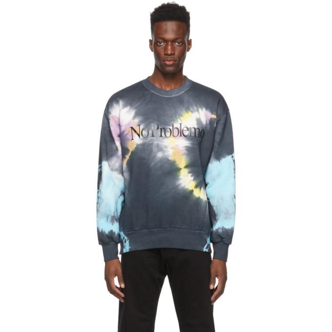 Aries Black and Multitcolor No Problemo Headlights Sweatshirt