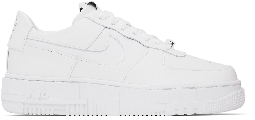Photo: Nike White Air Force 1 Pixel Sneakers