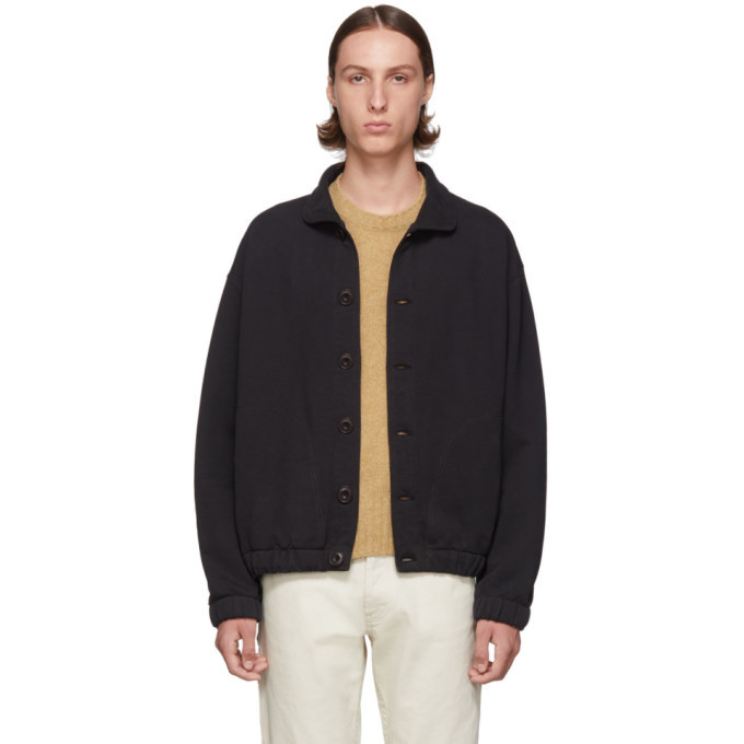 Photo: Lemaire Black Jersey Blouson Sweatshirt