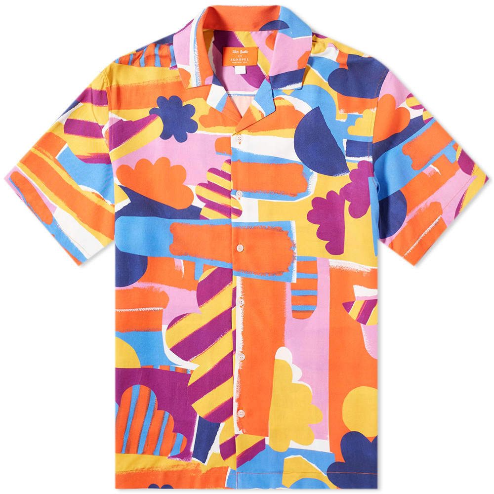 Photo: Sunspel x John Booth Cloud Print Vacation Shirt