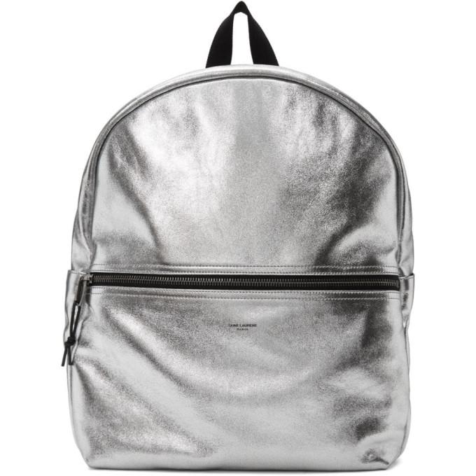 Photo: Saint Laurent Silver Nuxx Backpack