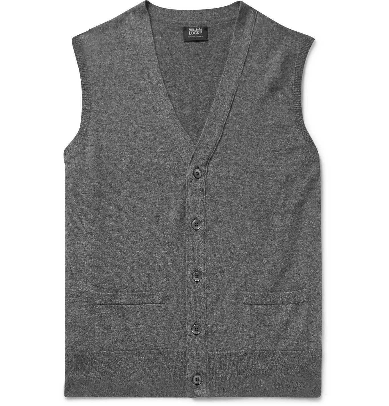 Photo: William Lockie - Oxton Cashmere Sweater Vest - Gray