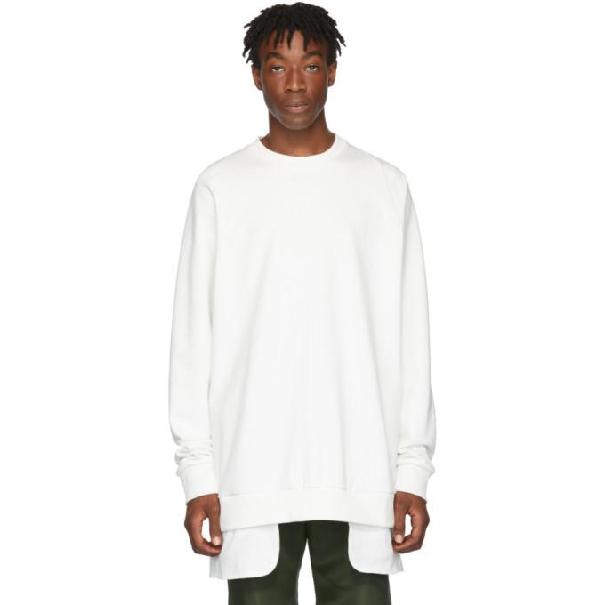 Photo: D.Gnak by Kang.D White Layered Sweatshirt
