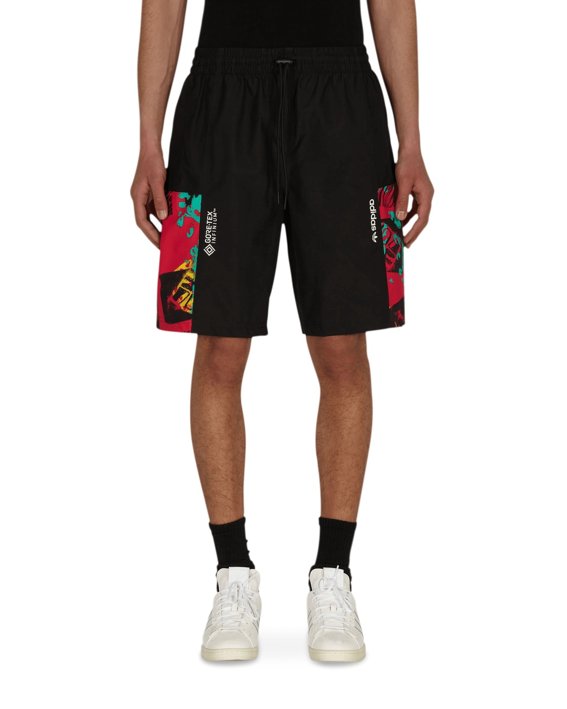 Photo: Adidas Originals Adventure Archive Printed Gore Tex Shorts Black/Multicolor
