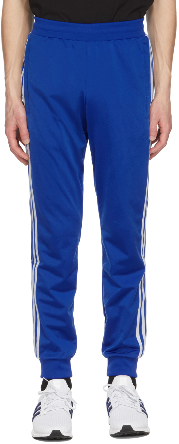 Photo: adidas Originals Blue 3-Stripes Track Pants